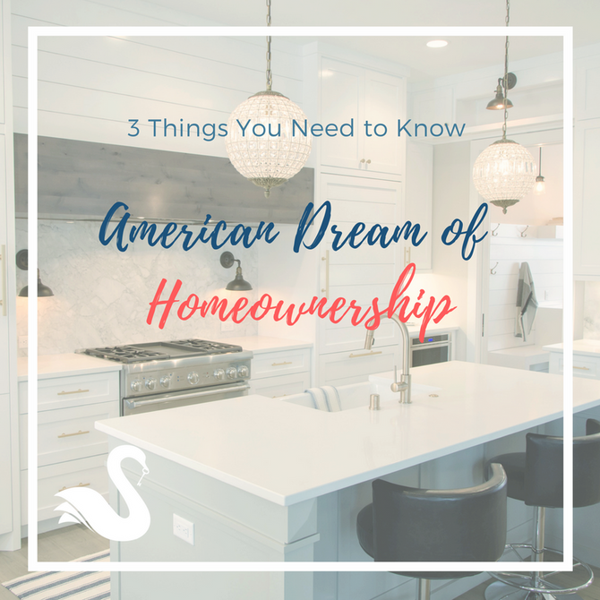 3 Things You Need to Know | American Dream of Homeownership