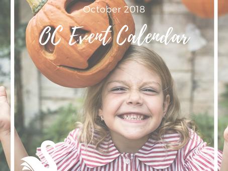 ORANGE COUNTY event calendar | October 2018