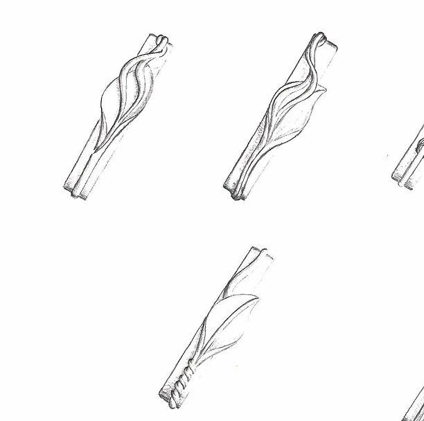 Projet au crayon pour un bracelet en argent
