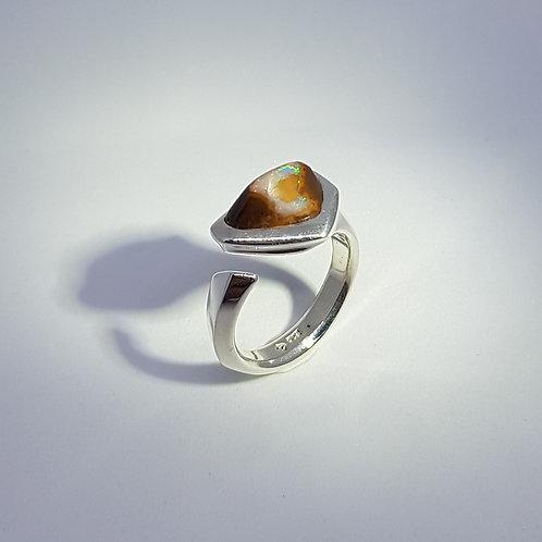 Bague asymétrique opale brute