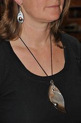 Boucles d'oreilles avec perles mabées