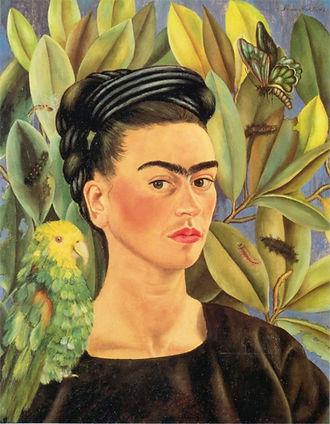 Autorretrato-com-Bonito-Papagaio-e-Borbo