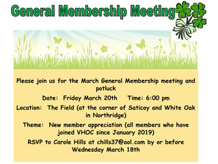 Canceled - March General Meeting