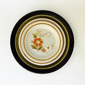 Vintage Stoneware Plate Rentals