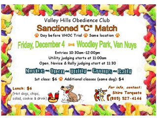 VHOC Obedience and Rally C Match