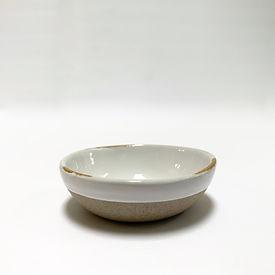 White Ceramic Pinch Bowl