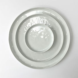 Modern White Plate Rentals