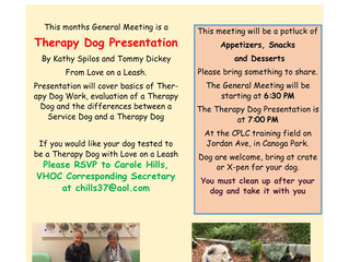 General Meeting - Therapy Dogs
