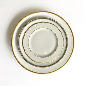 Vintage Gold China Plate Rental