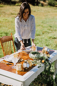 Modern and vintage table setting rentals in Idaho
