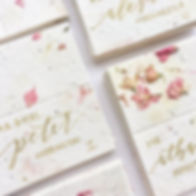Loving these flower seed place cards - s