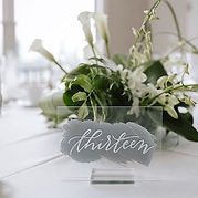 Fresh & clean tablescape from a June wed