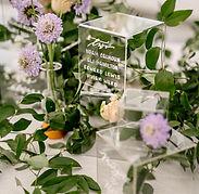 wedding acrylic cube seating chart
