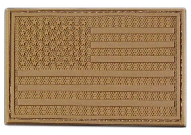 US flag rubber patch