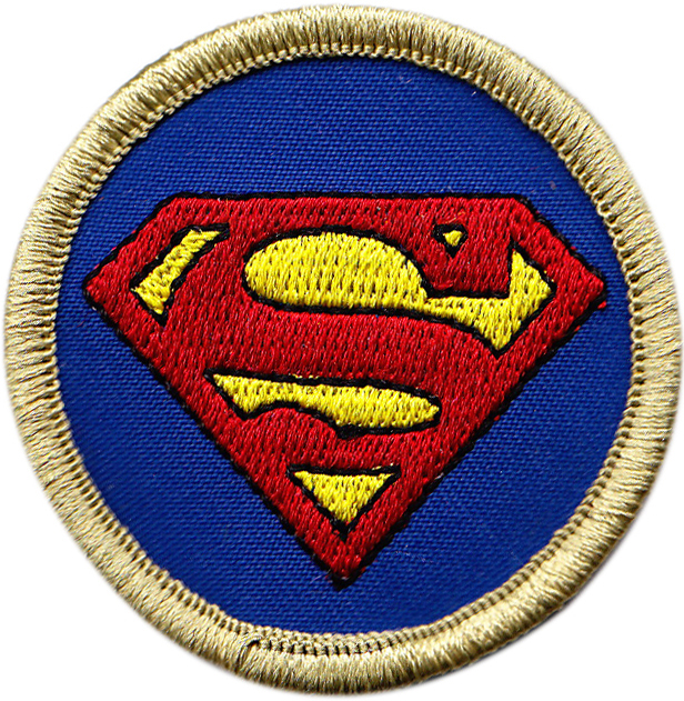 Superman embroidered patch
