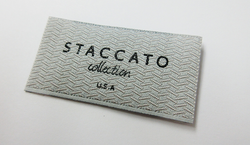 Staccato Woven Label