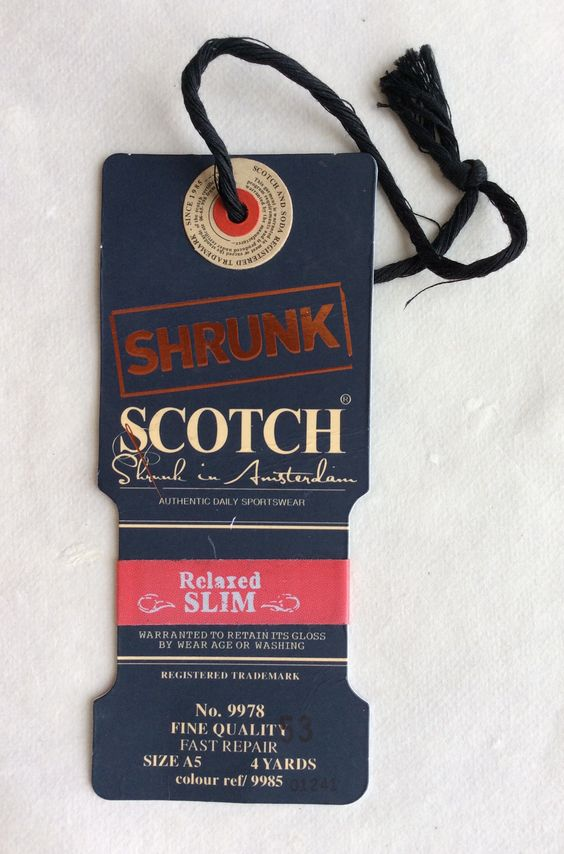 Scotch hangtag