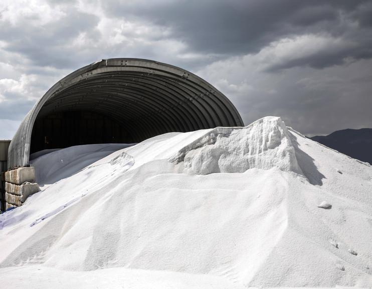 Large pile of salt ice melt