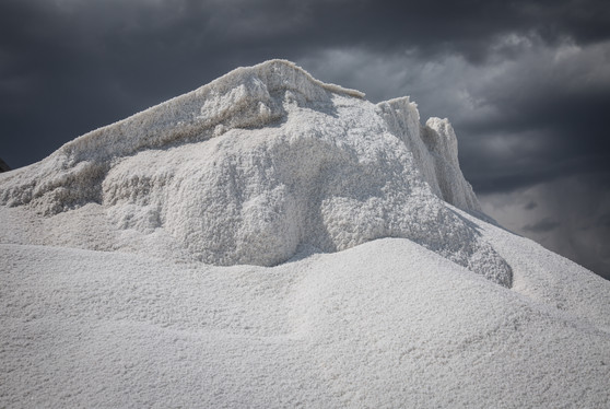 Pile of road salt