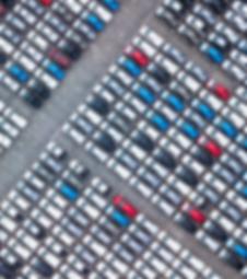 ariel view of car lot