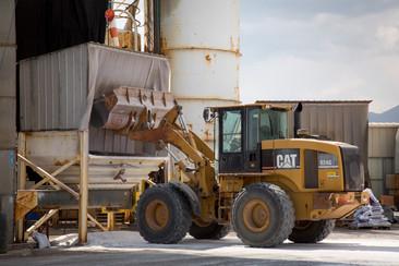 Tractor Loading Salt Depot