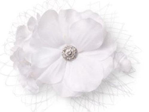 CELEBRIDE | Blume auf Clip mit Netzdeko