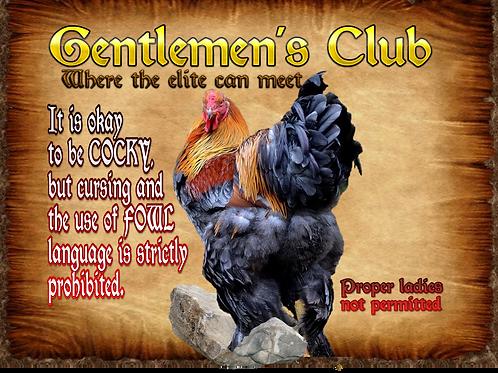 Coop Sign: Gentlemen's Club