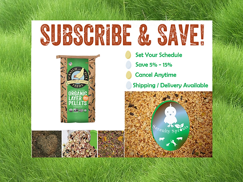Flock Feed and Care With Organic Pellets