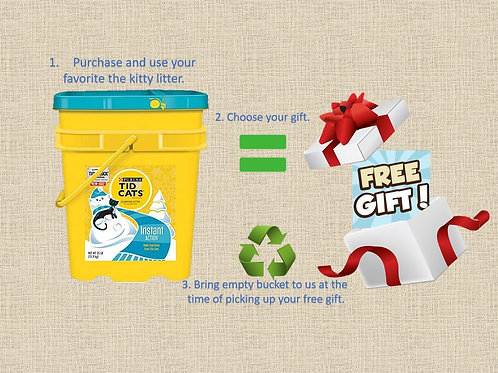 Recycle: Bring us your empty cat litter buckets