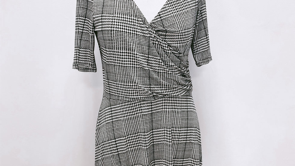Robe, manches 3/4, fluide...