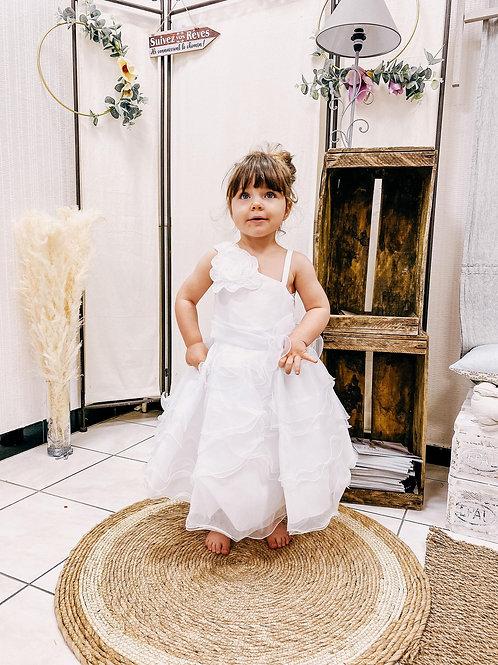 Robe enfant organza, ivoire ou blanc...