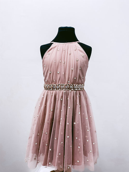 Robe enfant rose gold