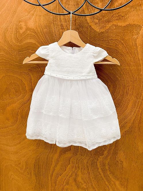 Robe bébé, tulle, blanc...