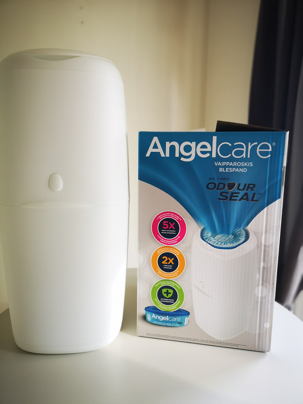Free Angelcare Diaper Bin from Barne Hus, Norway