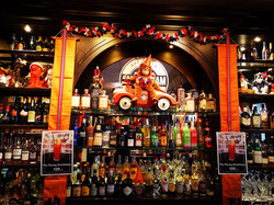 King's Day display at Cafe Amsterdam Osl