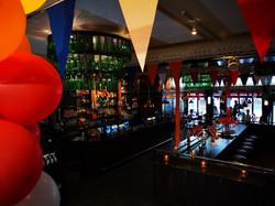 Cafe Amsterdam Oslo King's Day decoratio