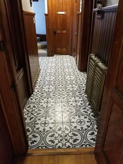 Back Hallway Tiled Floor (After)