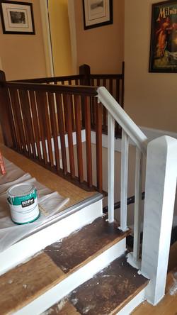 3rd Floor Stairway Painting (Before)