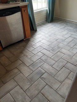 Tile Kitchen Floor Replacement (After)