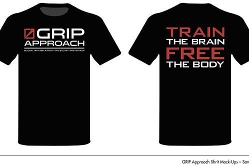GRIP T-Shirt Charcoal V-Neck