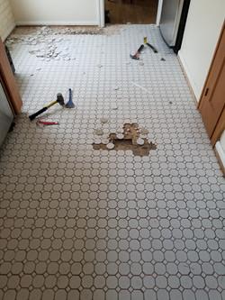 Tile Kitchen Floor Replacement (Before)