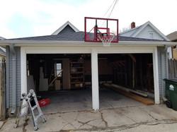 Single Bay Garage Door Install (Before)