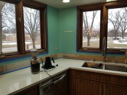 New Kitchen Tile Backsplash (Before)