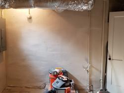Basement Wall Skim Coat (After)