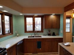 New Kitchen Tile Backsplash (After)
