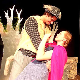 The Wolf and Little Red dance. Scene from Into the Woods.