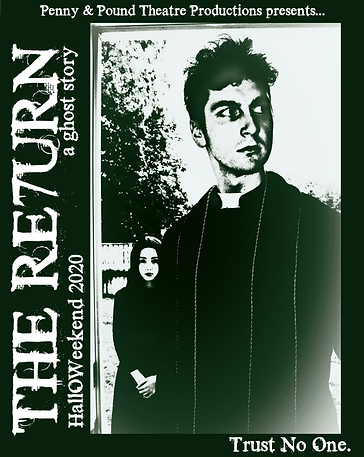 alt- The Return: A Ghost Story official poster. Little girl and priest walking through door.