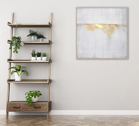 Golden+Horizon+Abstract+Framed+Canvas+Wa