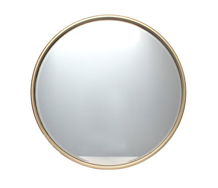 Small Round Gold Mirror