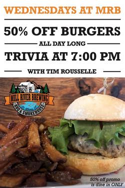 wednesdays burger&trivia